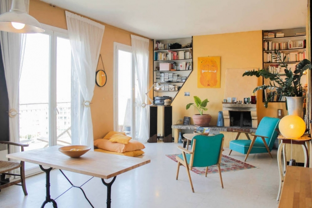 Marseille Penthouse Apartment (Airbnb): Seating Area