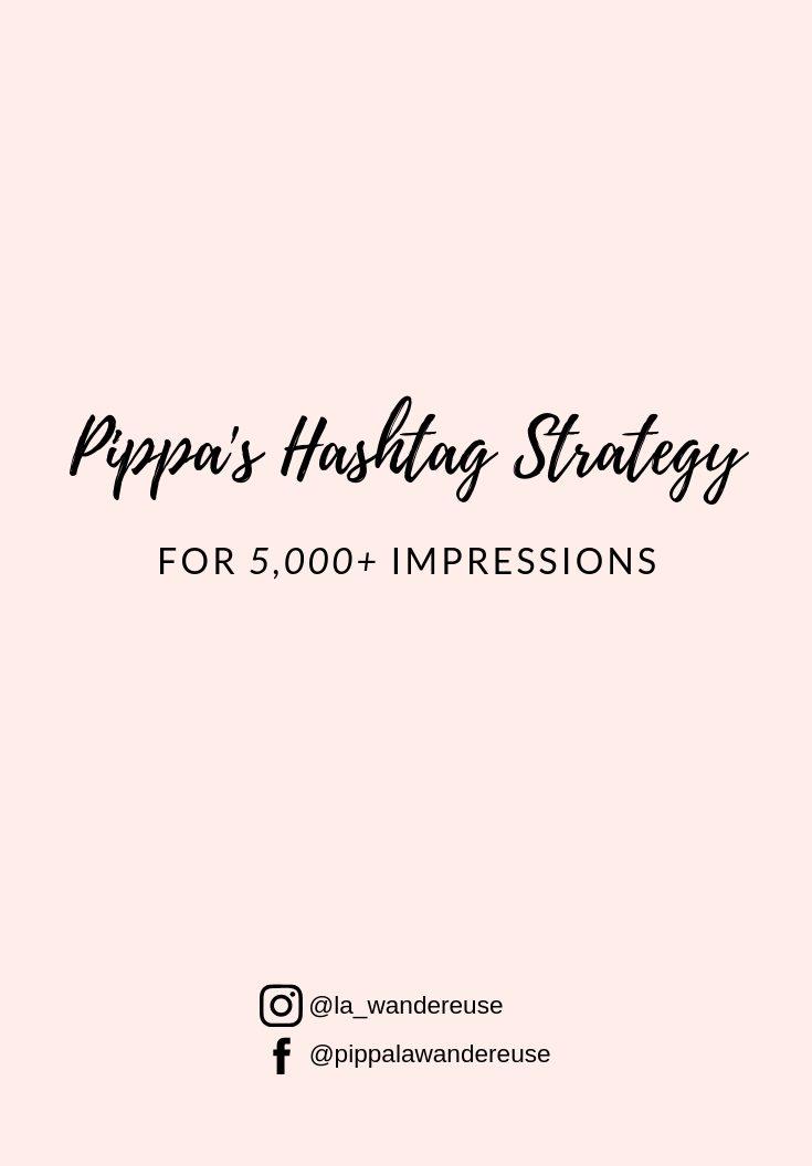 Pippa's Hashtag Strategy