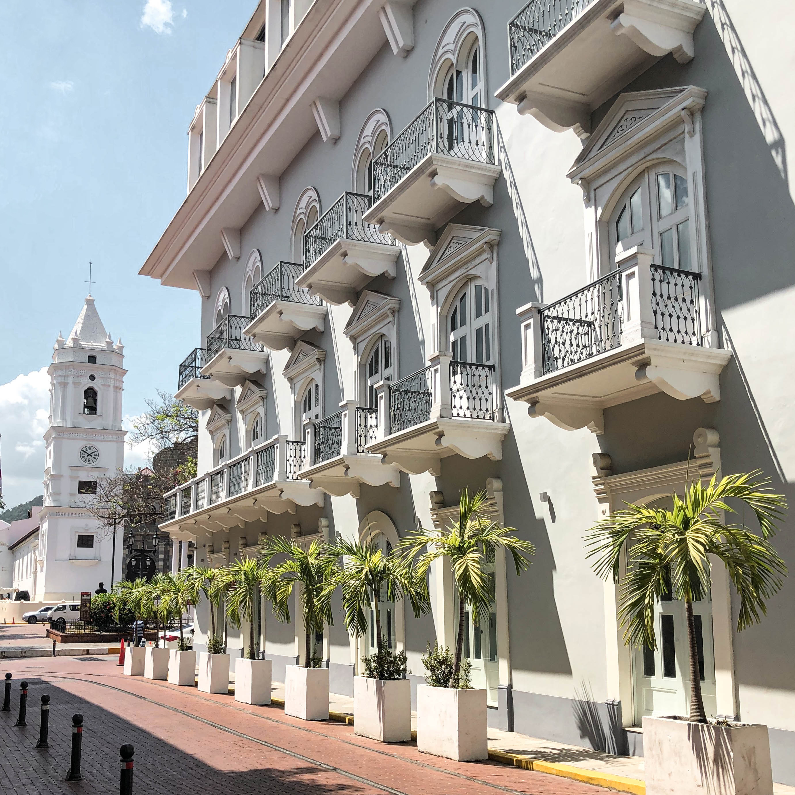 Casco Viejo - View of Plaza de la Catedral from Hotel Central
