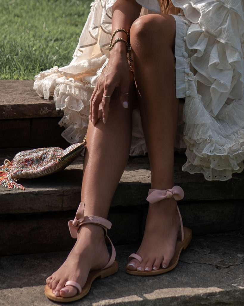 Cocobelle Designs - The Colette Sandal in Rose
